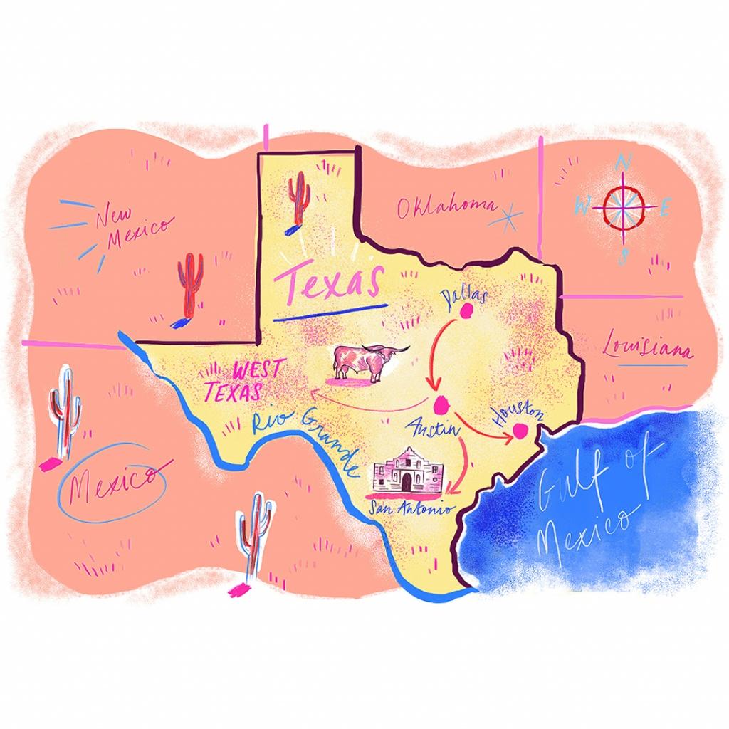 2019 Julyarts Texas Map Metal Cutting Dies For Card Scrapbooking - Texas Map Store Coupon