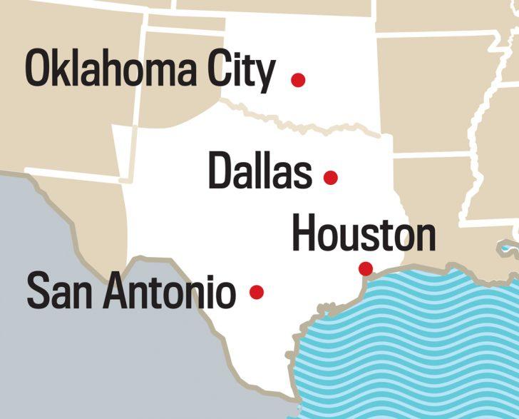 Paris Texas Map