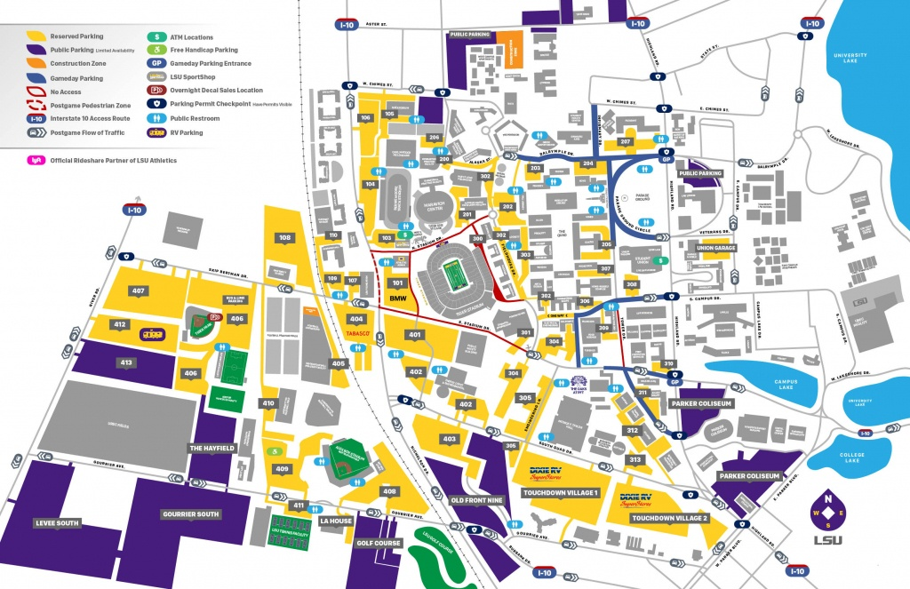 2019 Lsu Football Parking Map - Lsusports - The Official Web - Texas A&m Football Parking Map