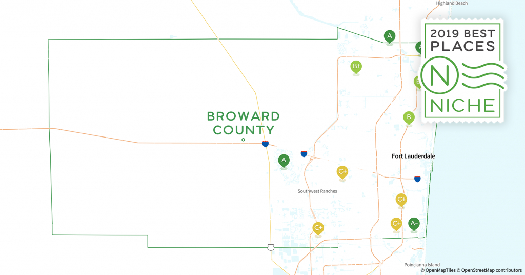 2019 Safe Places To Live In Broward County, Fl - Niche - Map Of Florida Showing Coral Springs