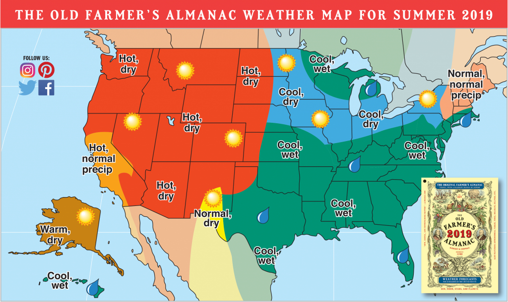 2019 Summer Forecast: Hotter Temps Out West, Rain For Others | The - Florida Weather Map With Temperatures