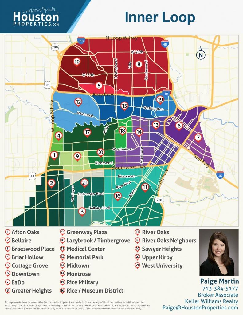 2019 Update: Houston Neighborhoods | Houston Map, Real Estate, Homes - Show Map Of Houston Texas