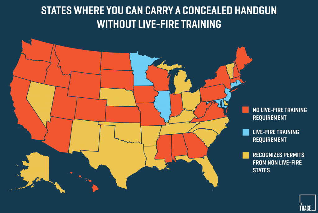 26 States Will Let You Carry A Concealed Gun Without Making Sure You - Texas Chl Reciprocity Map 2017