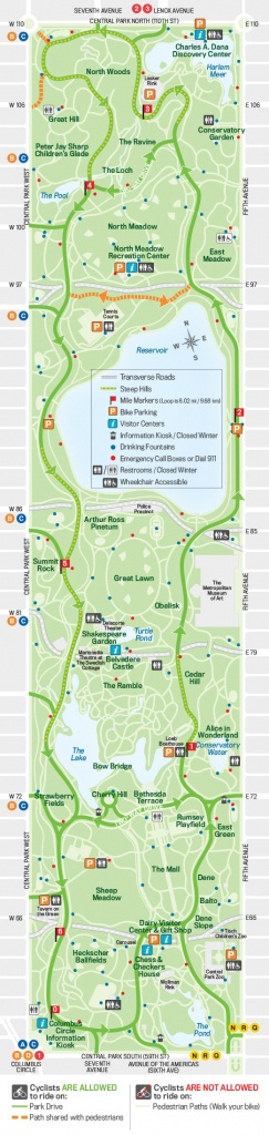 27 Things To Do In Central Park | Free Toursfoot - Nyc Walking Map Printable