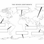 38 Free Printable Blank Continent Maps | Kittybabylove   Printable Map Of The 7 Continents And 5 Oceans