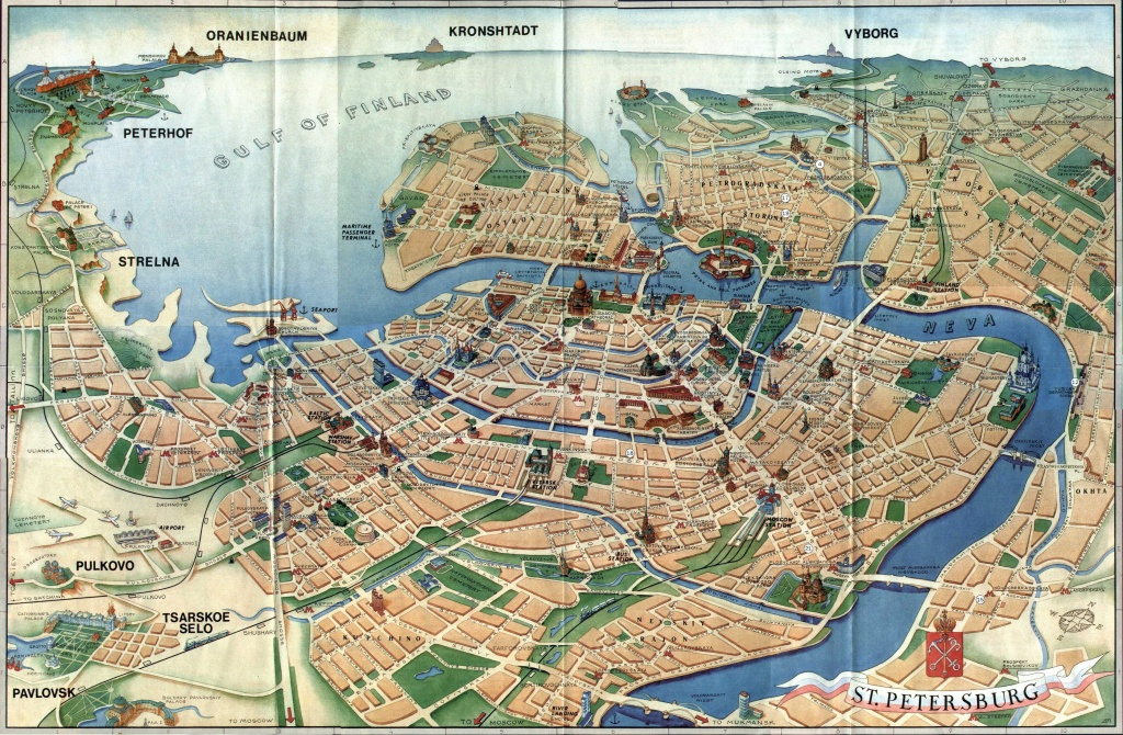 3D Map Of St Petersburg @jessica Grosland | Cartography | Tourist - Printable Tourist Map Of St Petersburg Russia
