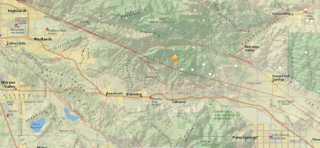 4.5-Magnitude Earthquake Jolts The Cabazon Area In Riverside County - Printable Map Of Riverside County