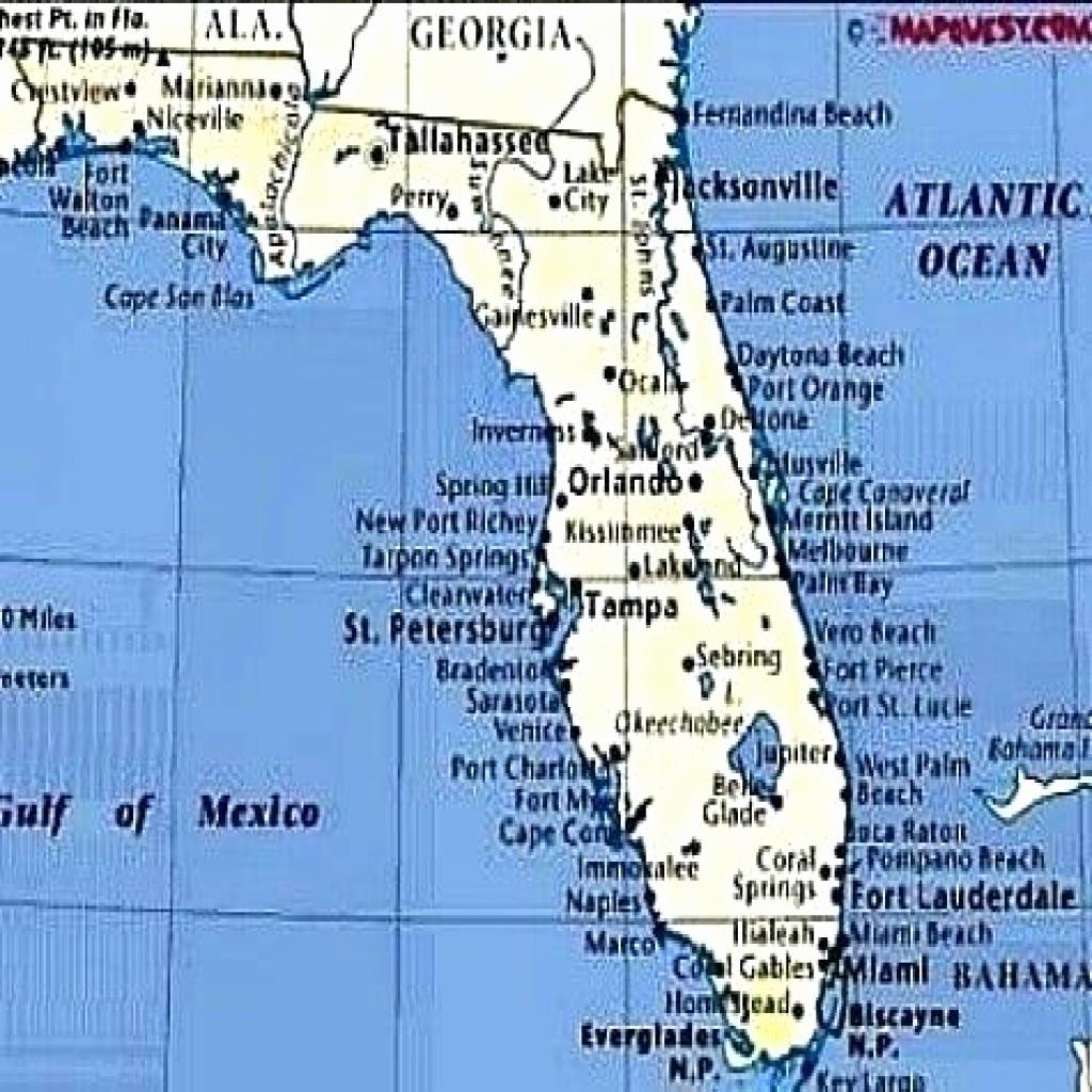 50 Luxury Florida Gulf Coast Beaches Map   Waterpuppettours - Map Of Florida Coast Beaches