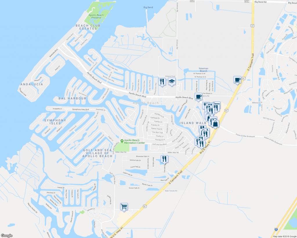 6316 Florida Circle West, Apollo Beach Fl - Walk Score - Map Of Florida Showing Apollo Beach