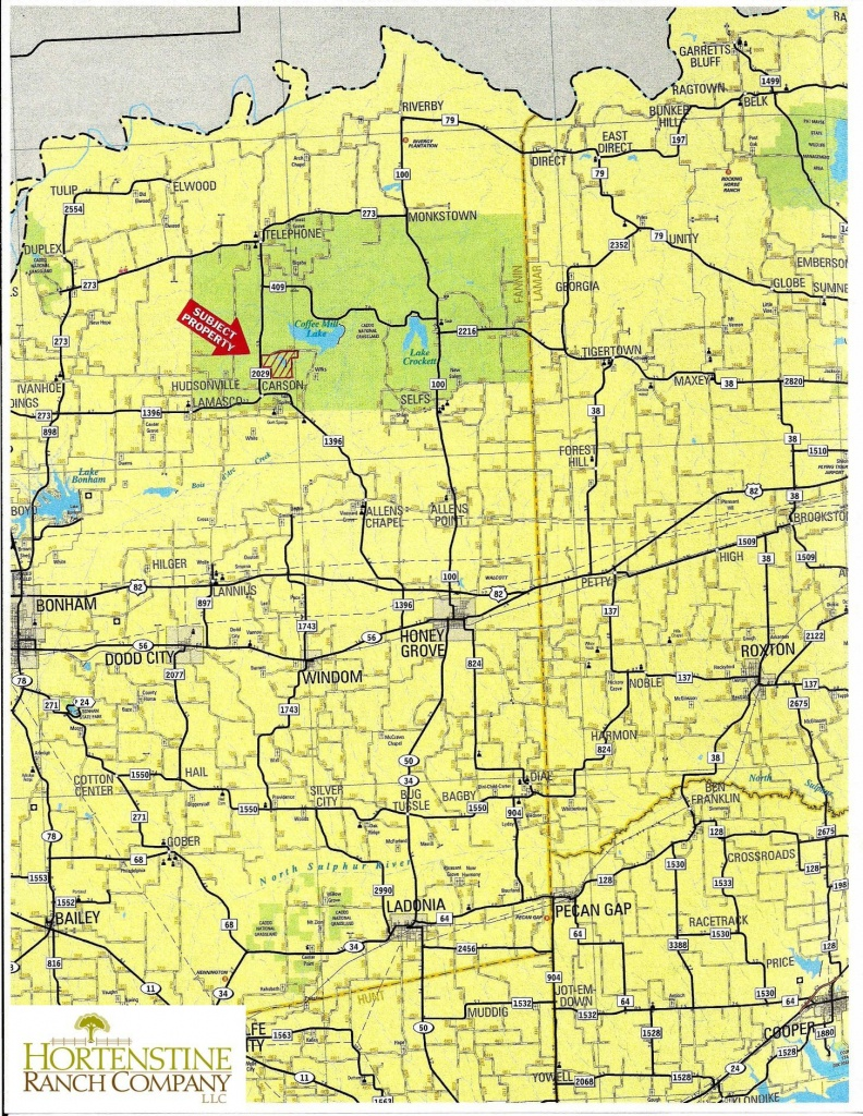 665 Acres In Fannin County, Texas - Texas Locator Map Of Public Hunting Areas