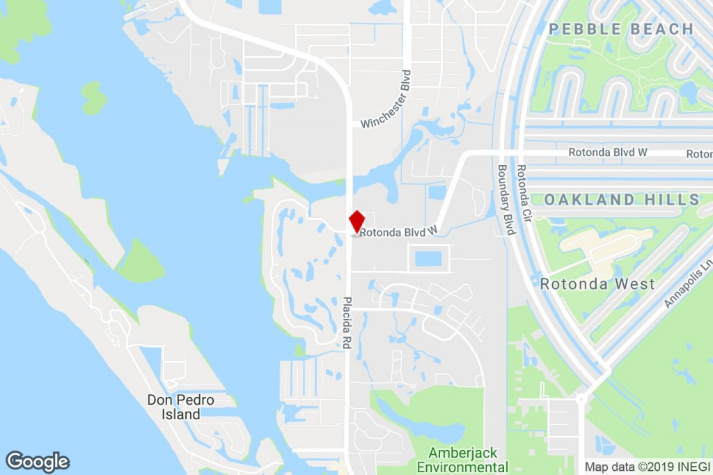 699 Rotonda Blvd W, Rotonda West, Fl, 33947 - Bank Property For Sale - Rotonda Florida Map