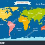 7 Continents And 5 Oceans In This World Telugu New World | 5 Oceans   Printable Map Of The 7 Continents And 5 Oceans