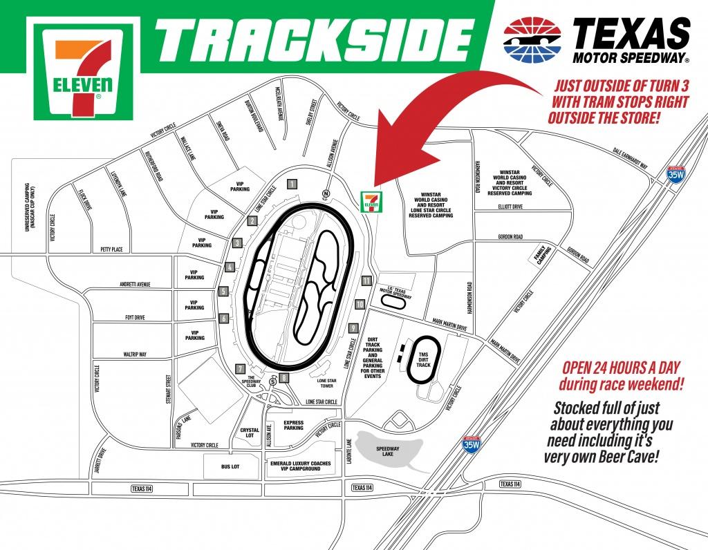 7-Eleven Trackside - Texas Motor Speedway Parking Map