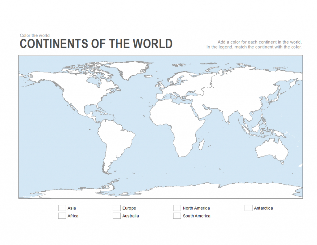 7 Printable Blank Maps For Coloring Activities In Your Geography - Continents Outline Map Printable