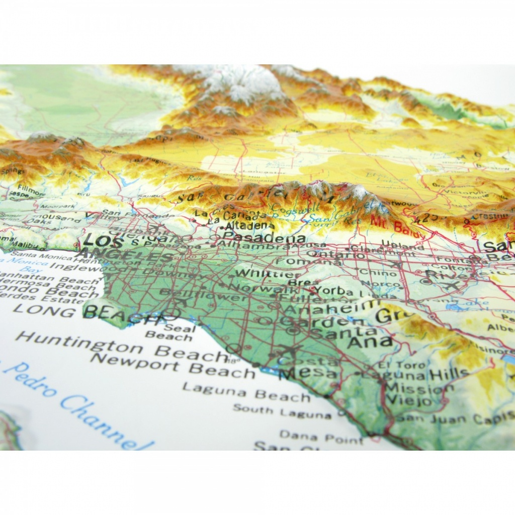 951 - California Raised Relief Map - Relief Map Of Southern California