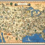 A Good Natured Map Of The United States Setting Forth The Services   Greyhound Map California
