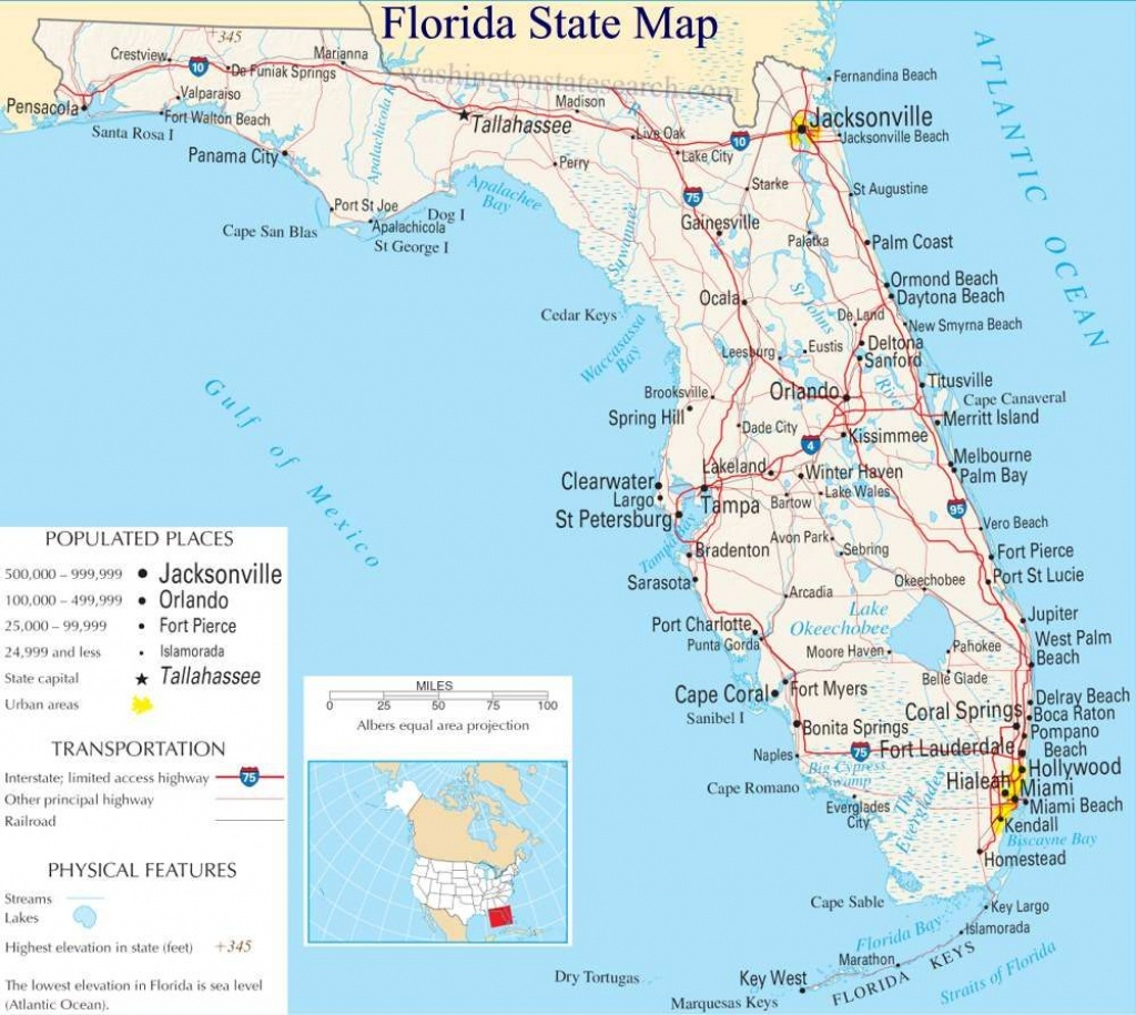 A Large Detailed Map Of Florida State   For The Classroom In 2019 - Best Florida Gulf Coast Beaches Map