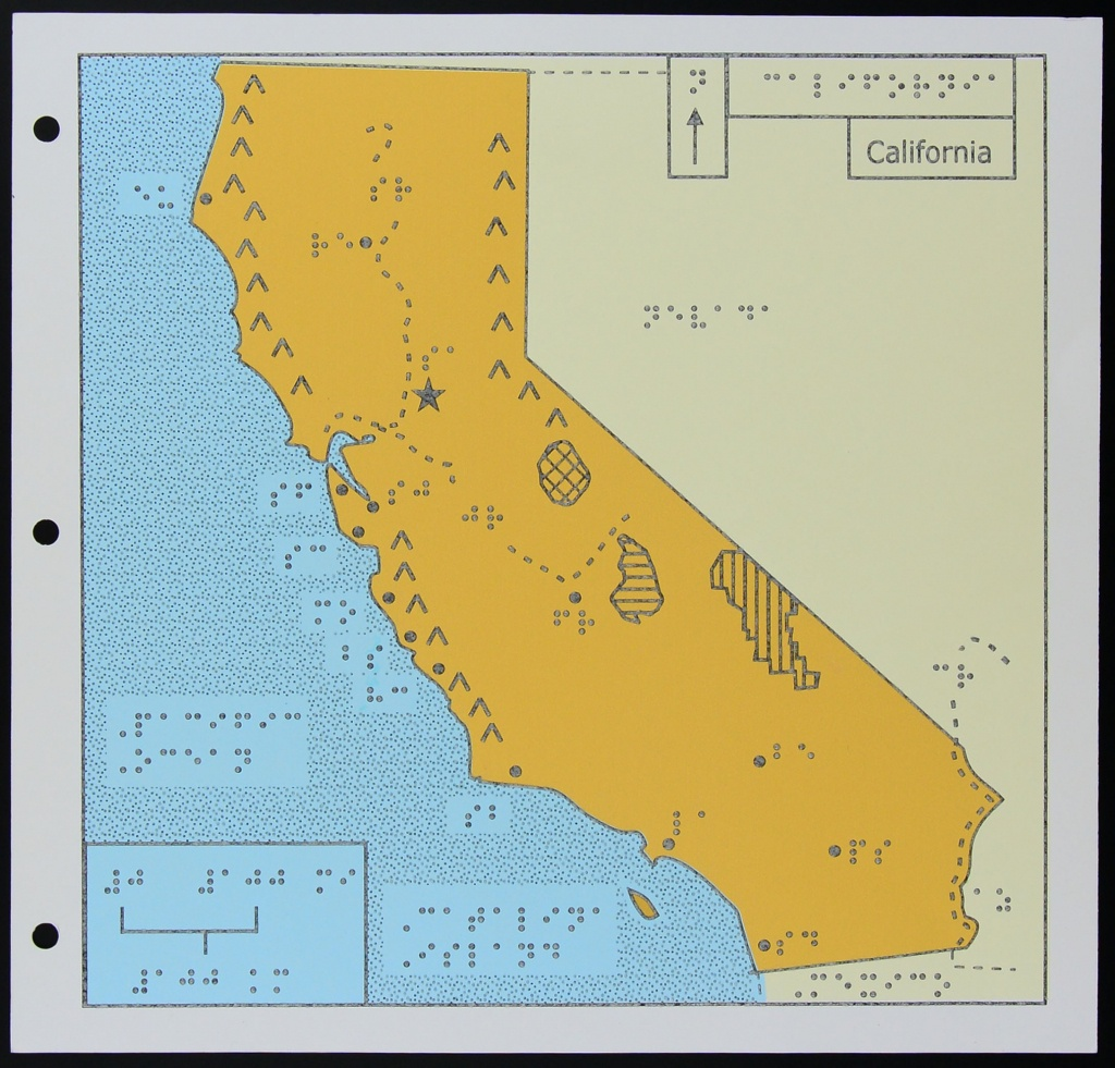 A Map Of California For The Blind | Kcet - Picture Of California Map