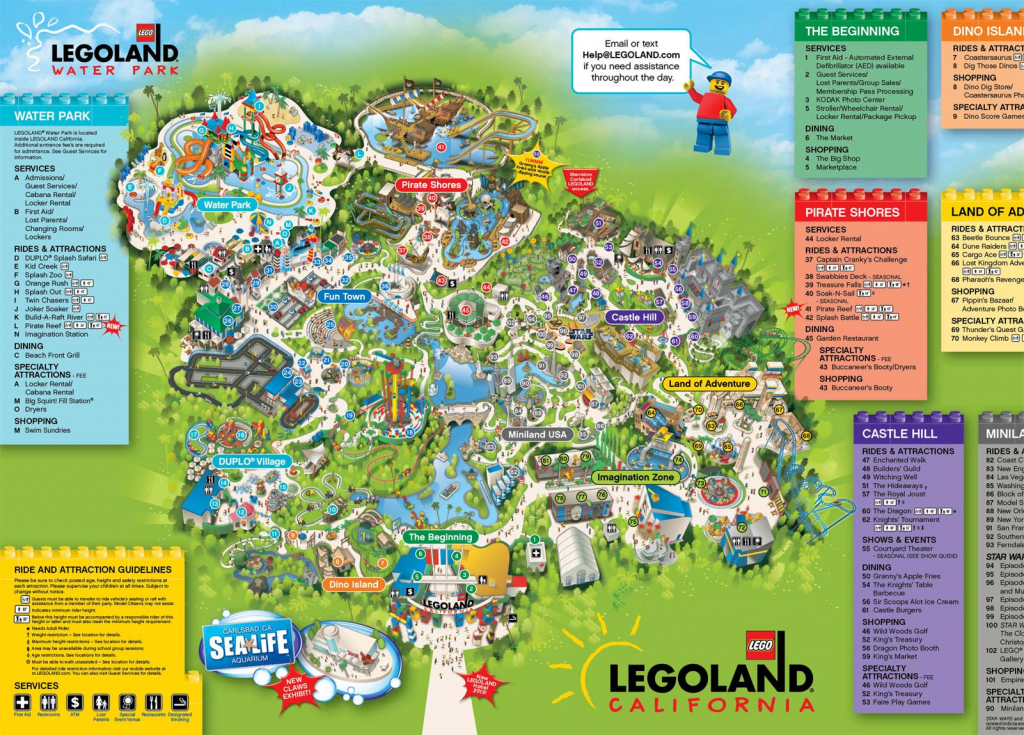 A Map Of Legoland California | Legoland California Resort; Carlsbad - Southern California Amusement Parks Map