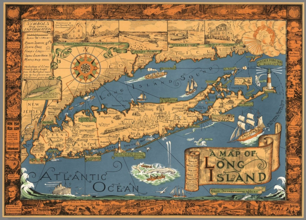 A Map Of Long Island. Drawncourtland Smith From Data Compiled - Printable Map Of Long Island