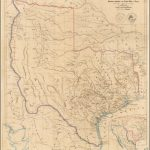 A Map Of Texas, Compiled From Surveys Recorded In The Land Office Of - Texas Survey Maps