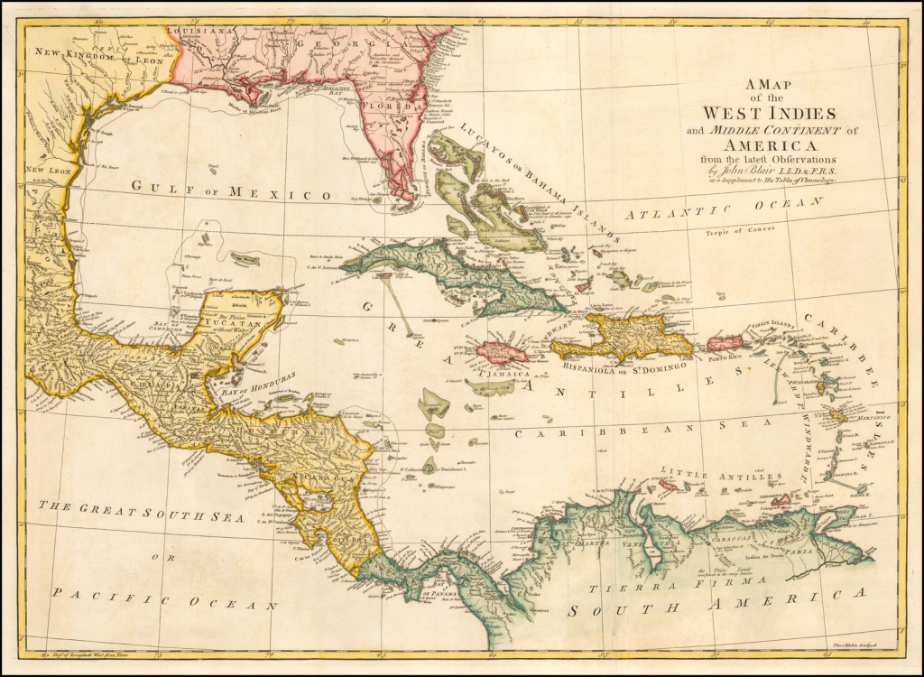 A Map Of The West Indies And Middle Continent Of America From The - Map Of Florida And Caribbean