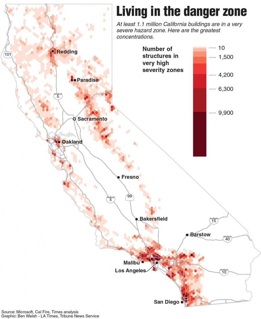 A Million California Buildings Face Wildfire Risk. 'extraordinary - California Wildfire Risk Map
