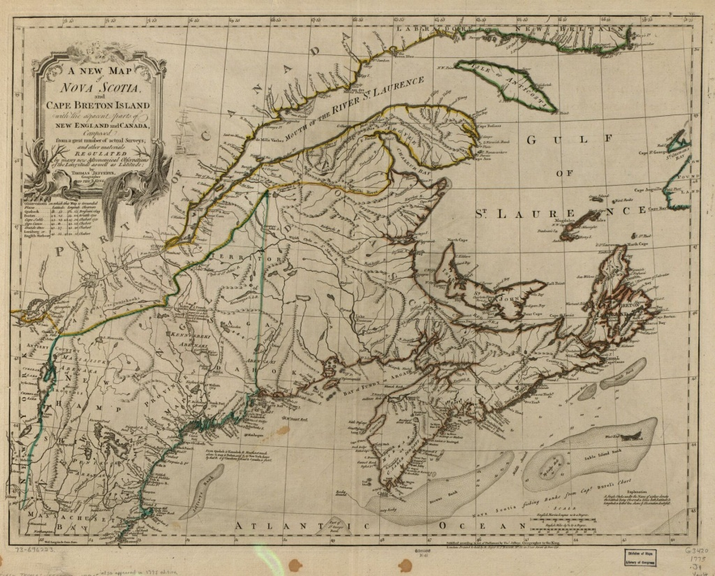 A New Map Of Nova Scotia, And Cape Breton Island With The Adjacent - Printable Map Of Cape Breton Island