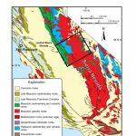 A Simplified Geological Map Showing The Sierra Nevada Mountain Belt   Sierra California Map