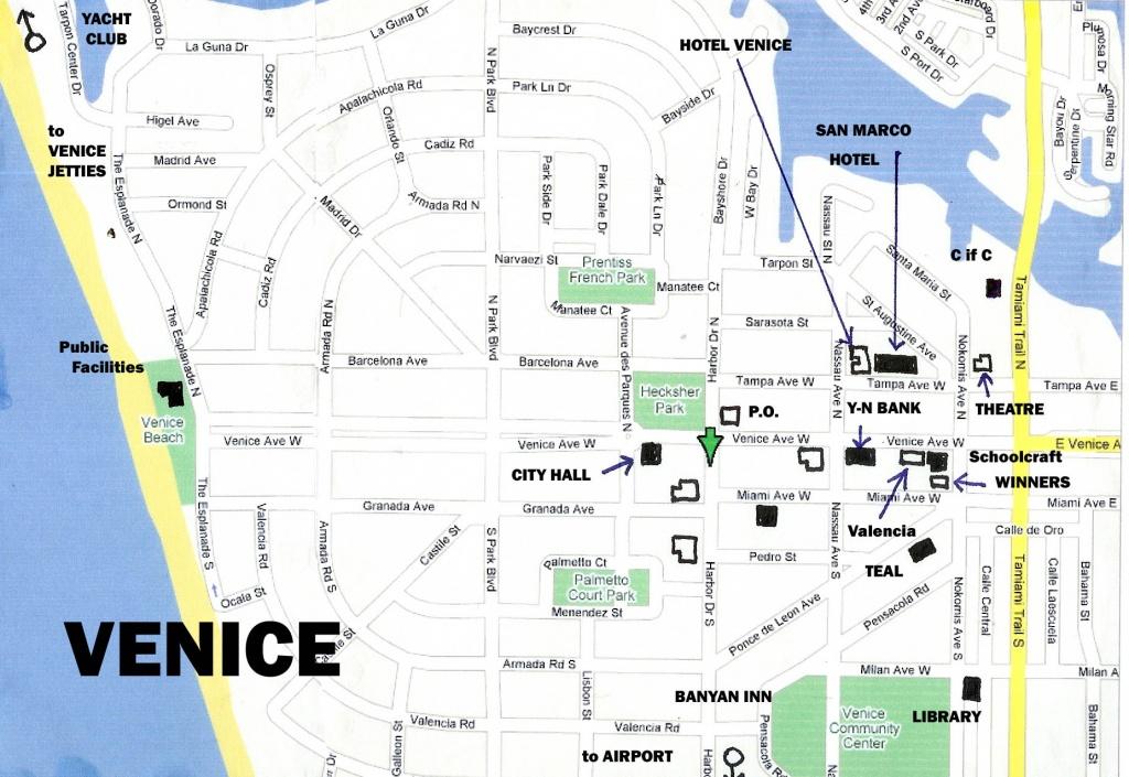 A Tour Of Venice Florida - Map Of South Venice Florida