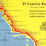 A Trail Map Of Some Of The Amazing Spanish Missions Across   California Missions Map For Kids