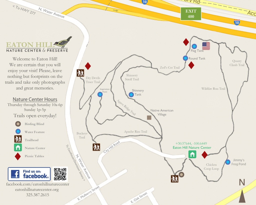 About Eaton Hill Nature Center | Sonora, Texas | Preserve - Texas Birding Trail Maps