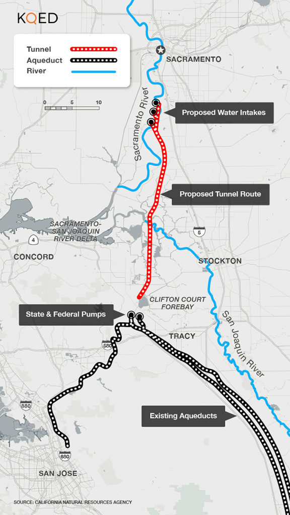 About That $17 Billion Water Project: Delta Tunnels 101 | Election - California Aqueduct Fishing Map