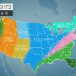 Accuweather's Us Winter Forecast For 2018 2019 Season   Texas Weather Map Temps