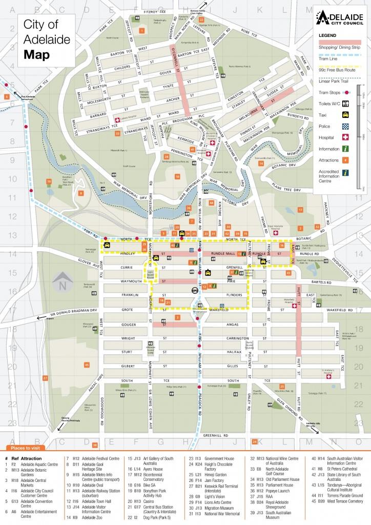 Adelaide Maps   Australia   Maps Of Adelaide - Printable Map Of Adelaide Suburbs