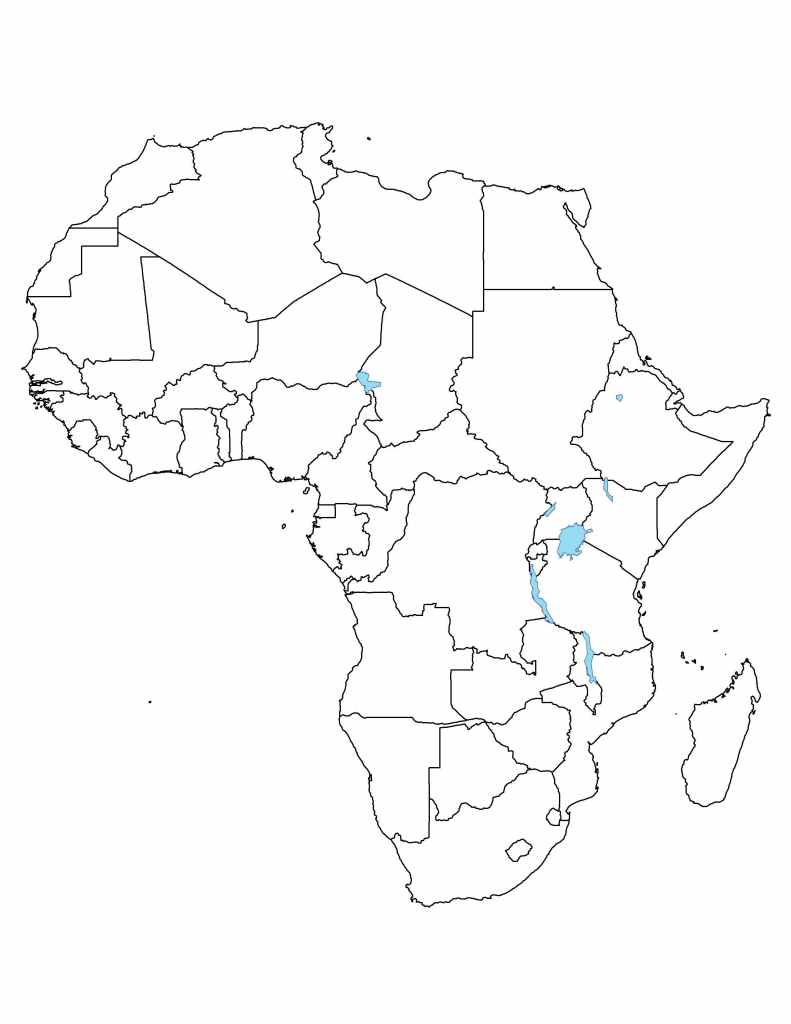 Africa Blank Political Map - Maplewebandpc - Printable Political Map Of Africa
