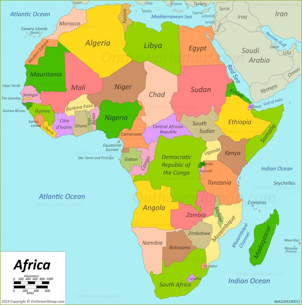 Africa Map   Maps Of Africa - Free Printable Map Of Africa