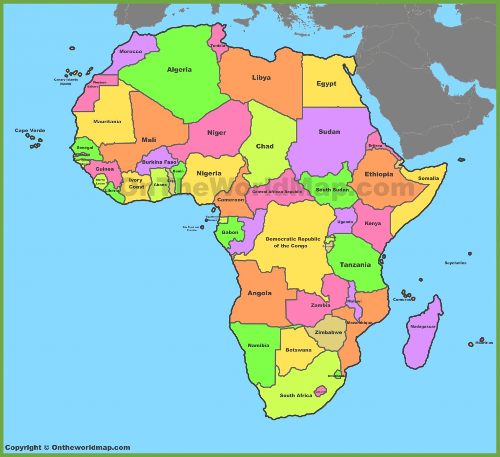 Africa Map   Maps Of Africa - Free Printable Political Map Of Africa