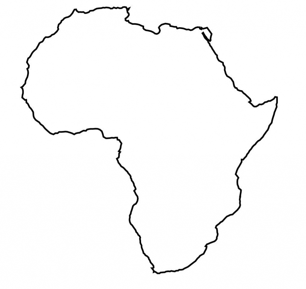 Africa Map Outline Printable - Lgq - Africa Outline Map Printable
