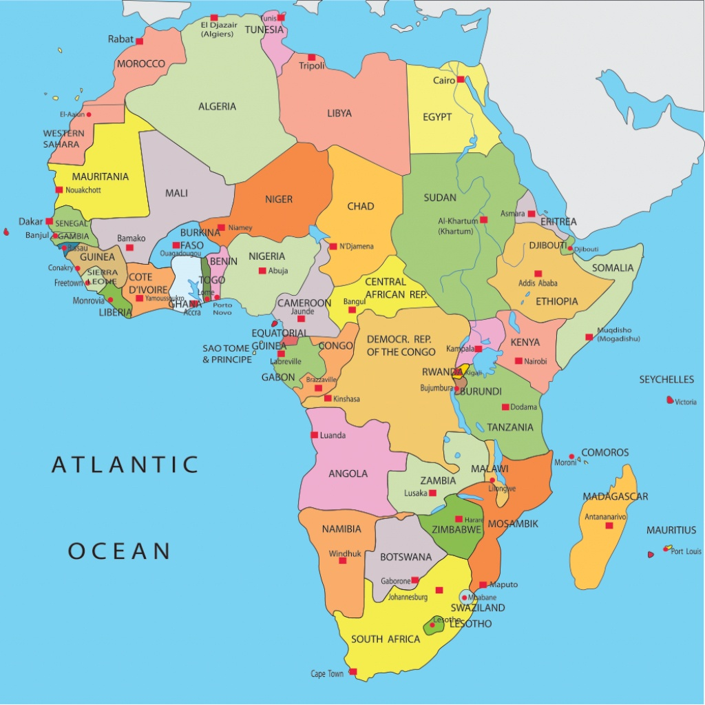 Africa Map With Capitals - Lgq - Printable Map Of Africa With Capitals