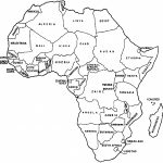 Africa Map With Countries Black And White | Campinglifestyle - Map Of Africa Printable Black And White