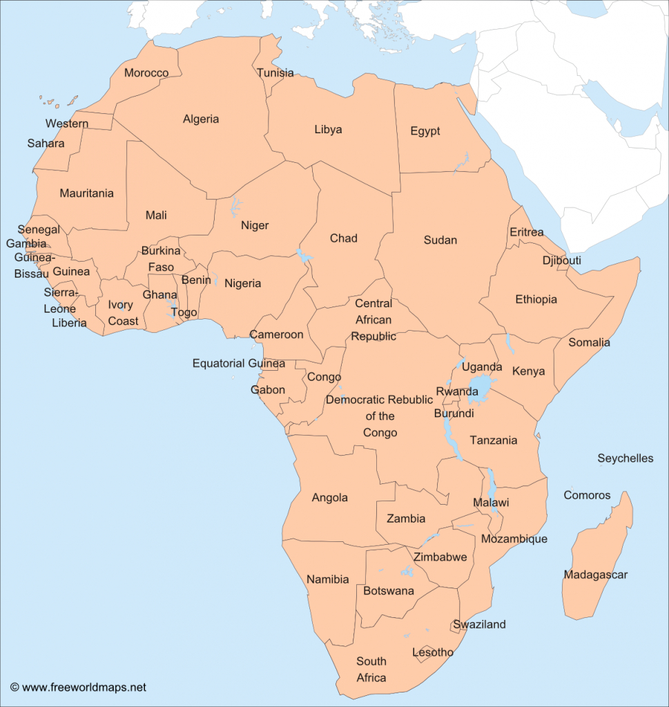 Africa – Printable Maps –Freeworldmaps - Printable Political Map Of Africa