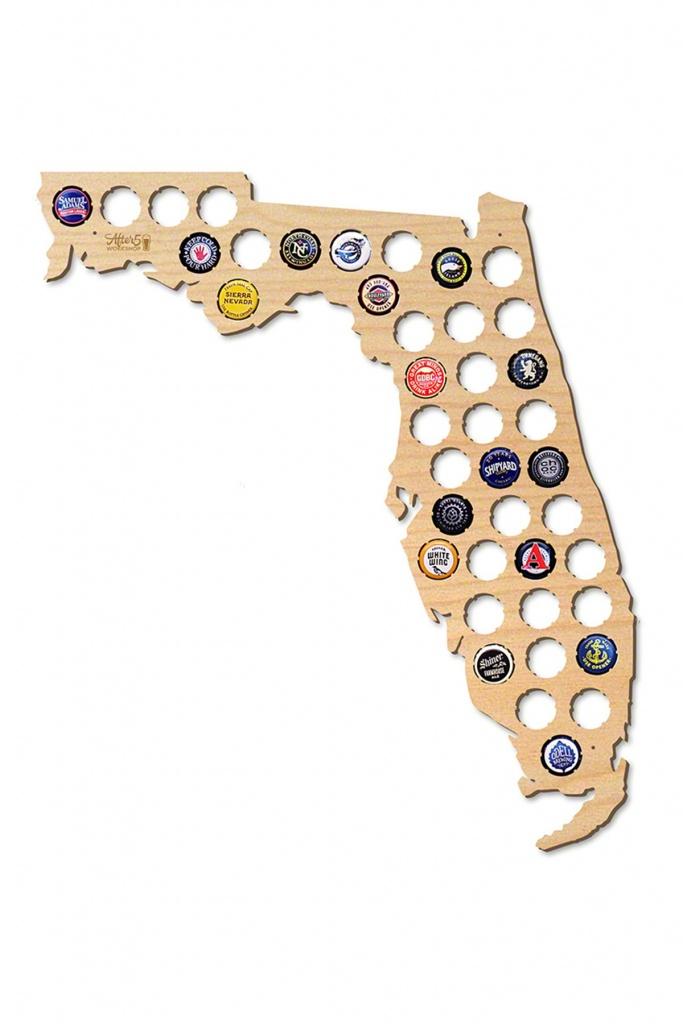 After 5   Florida Beer Cap Map   Nordstrom Rack - Florida Beer Cap Map