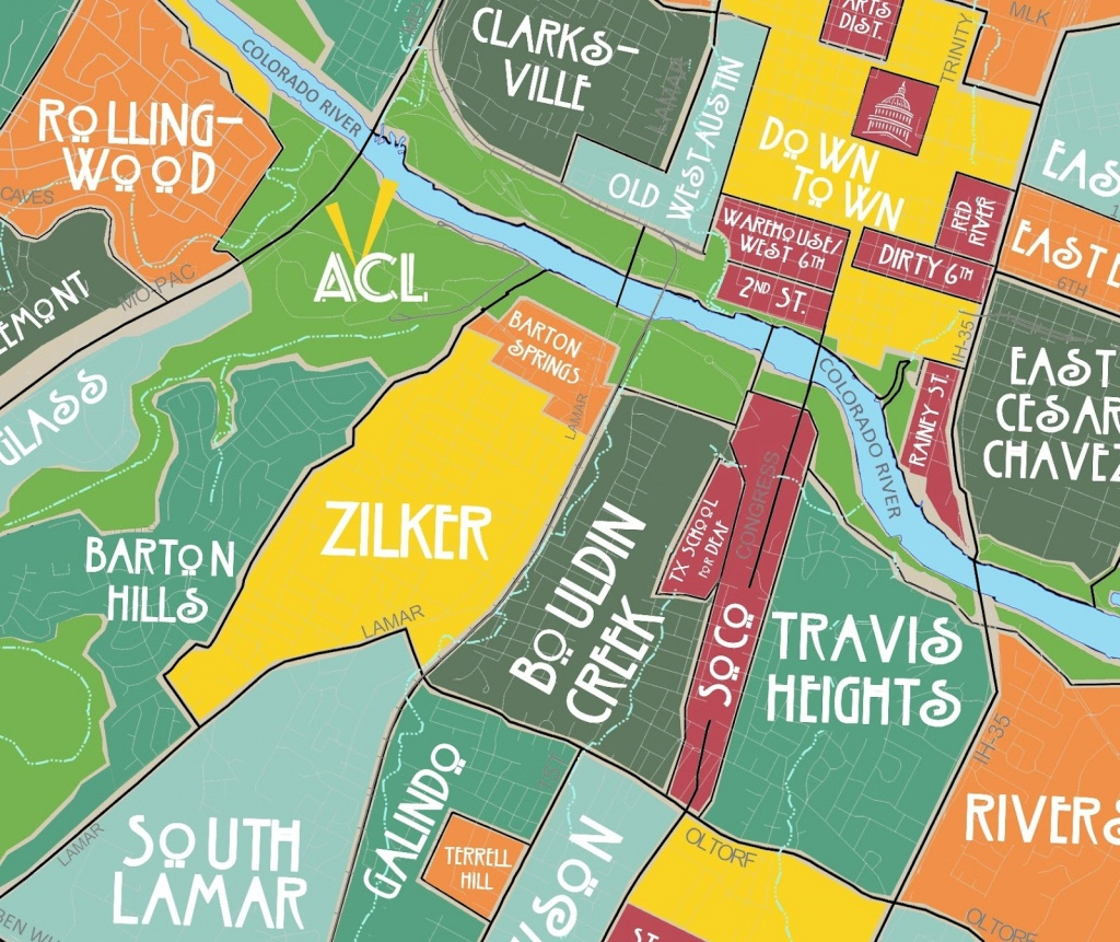Aggregated Maps Of Austin — Austin's Atlas - Austin Texas Map