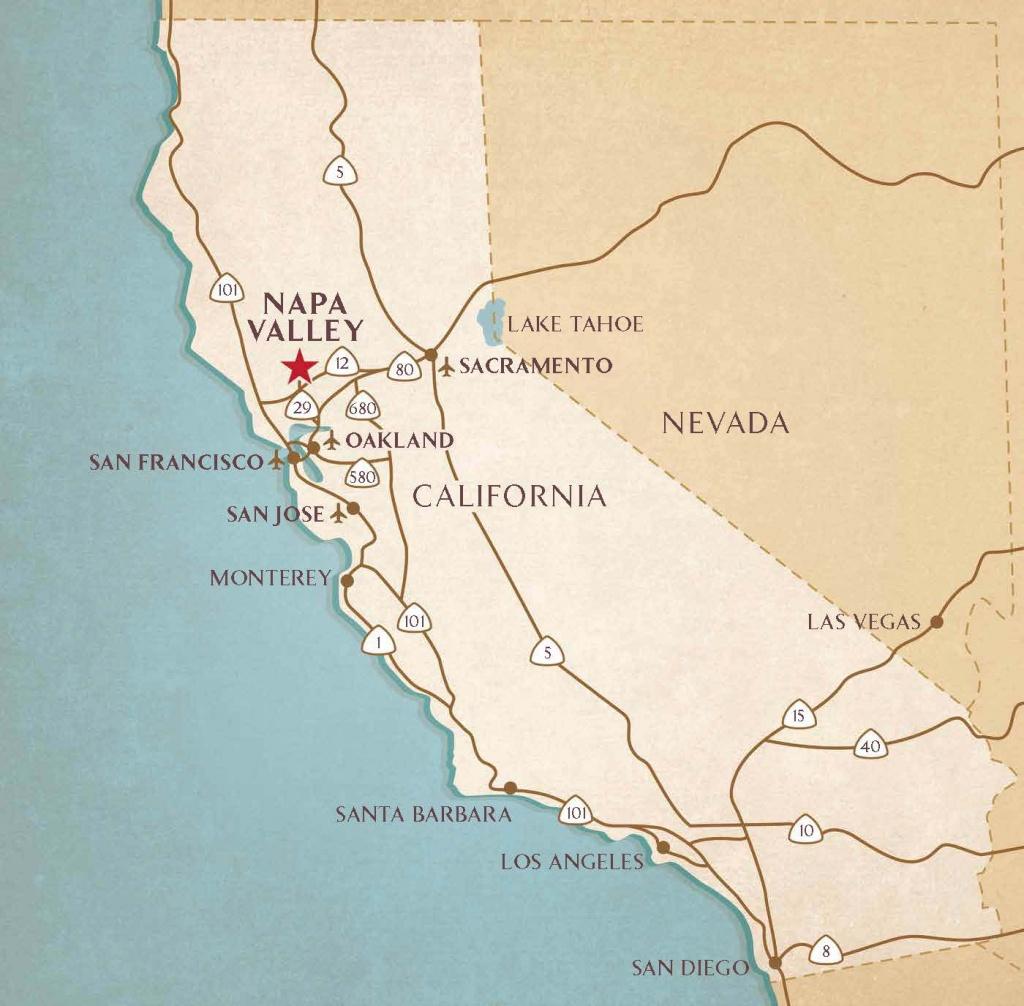 Airports Near Napa Valley   Transportation & Flight Information - Napa California Map
