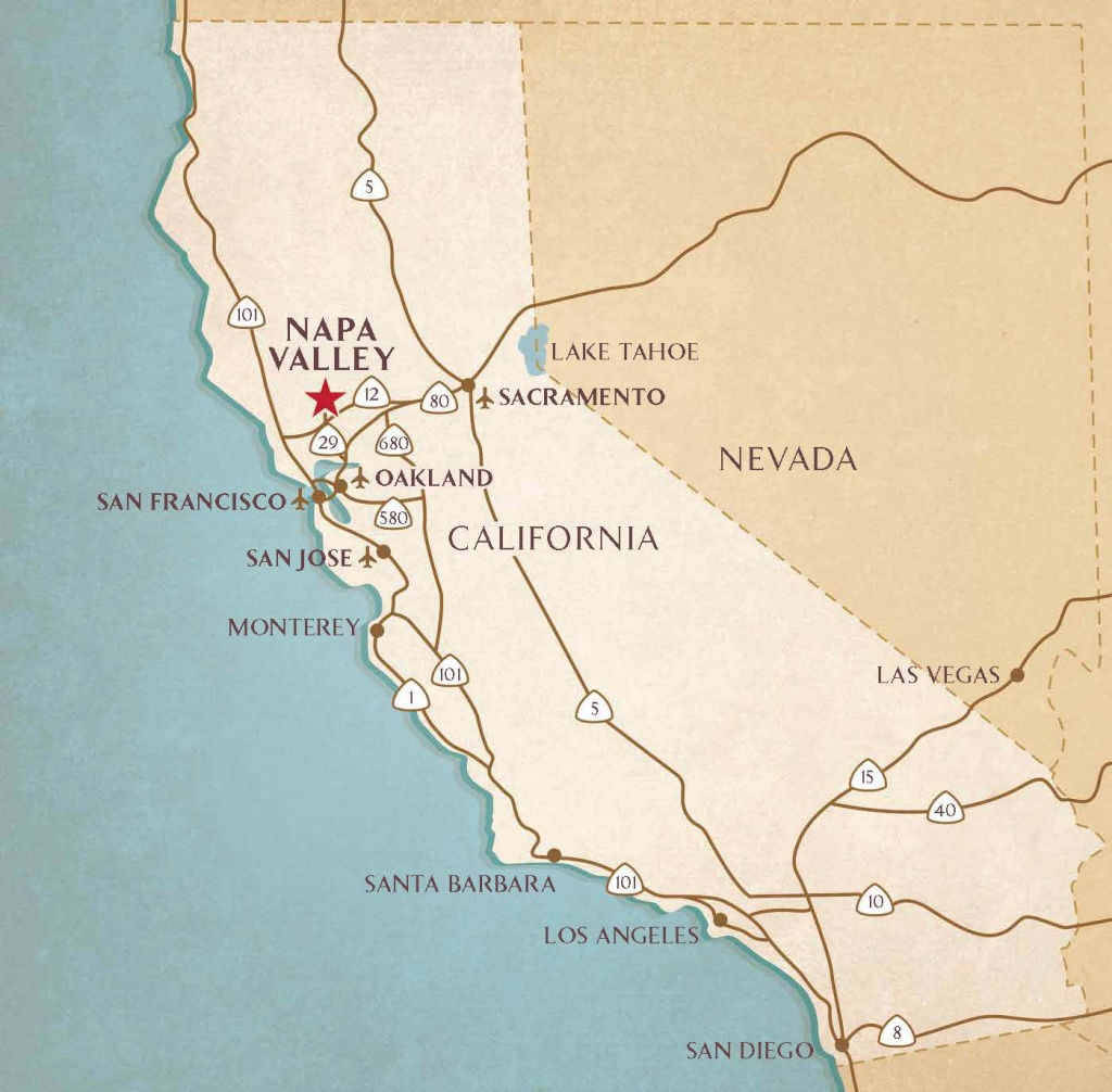 Airports Near Napa Valley   Transportation & Flight Information - Napa Valley California Map