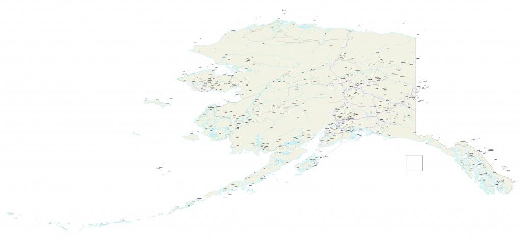 Alaska Map - Us Alaska Maps Free - Free Printable Alaska Road Maps - Free Printable Map Of Alaska