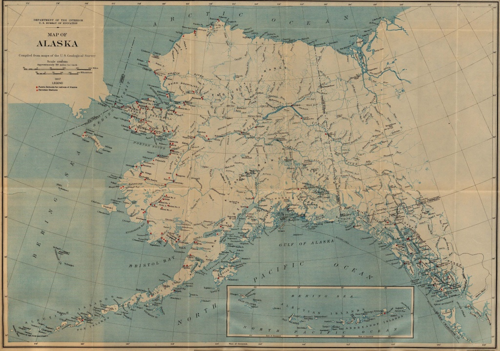 Alaska Maps - Perry-Castañeda Map Collection - Ut Library Online - Printable Map Of Alaska With Cities And Towns