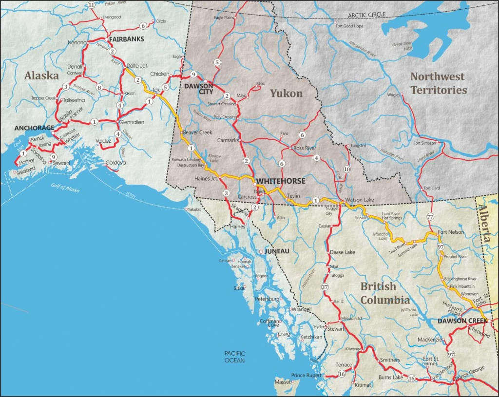 Alaska Maps: The Best City, Town And Highway Maps - Printable Map Of Alaska With Cities And Towns