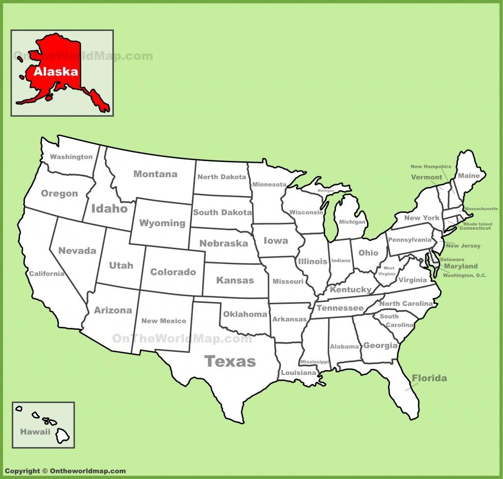 Alaska State Maps   Usa   Maps Of Alaska (Ak) - Printable Map Of Alaska With Cities And Towns